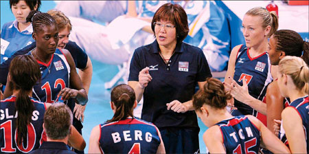 shepingguoyouxi_women\'s volleyball team in 2005, she was set the task of helping