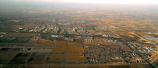 Aerial view of Beijing suburbs Daily Mail