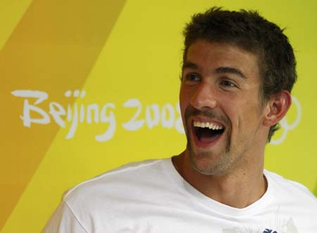 michael phelps of the u s  attends practice at the national aquatics