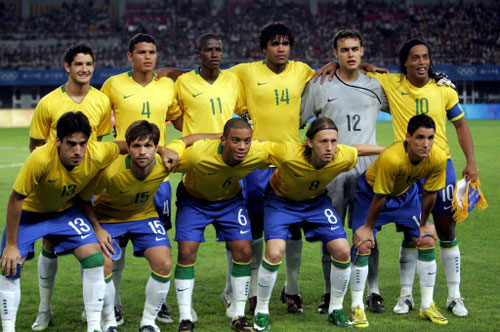 Brazil defeats host China 3-0 in Olympic men's soccer