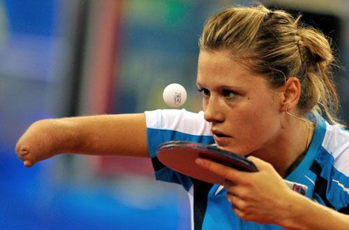 The respectable player:Poland's Natalia Partyka