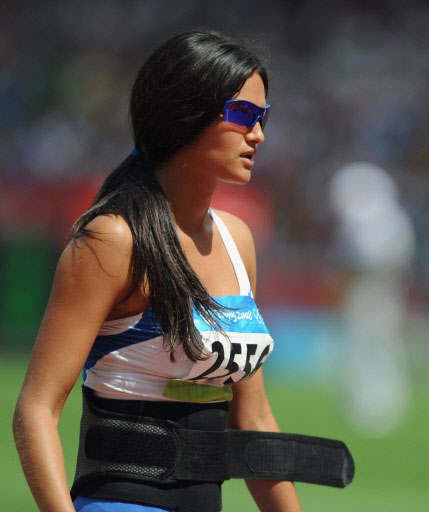 Beijing 2008 Olympic & Paralympic: Leryn Franco, a Javelin thrower and Miss Paraguay runner-up