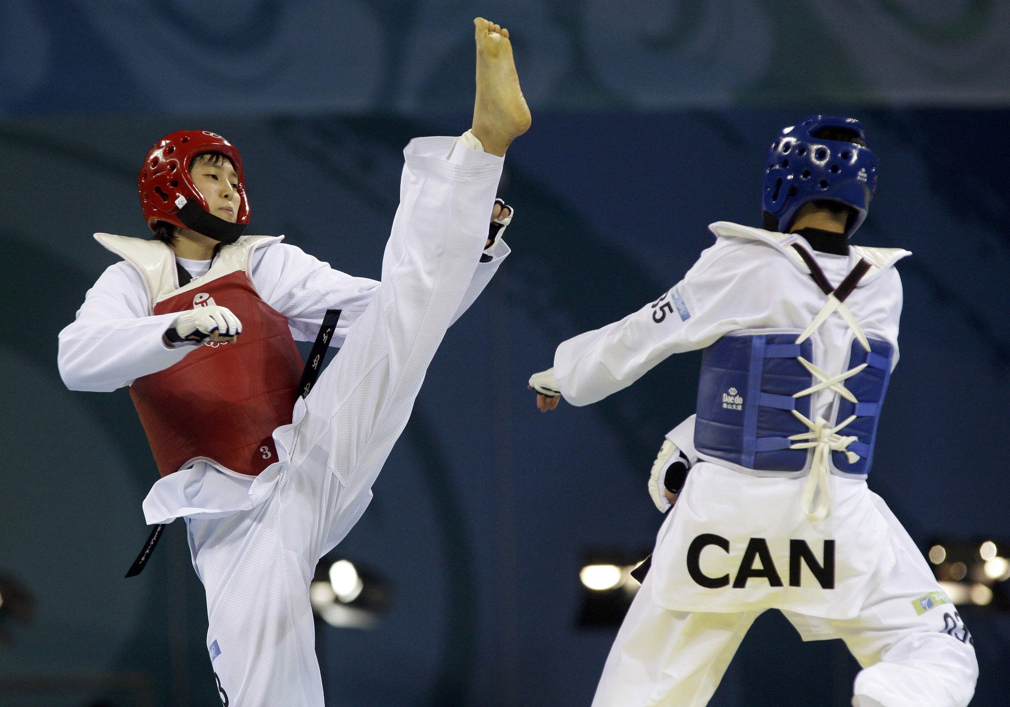 Taekwondo korean sparing