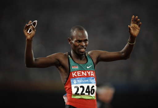 Wilfred Bungei of Kenya wins the men's 800m final of the athletics competition in the National Stadium at the Beijing 2008 Olympic Games August 23, 2008