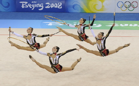 Russia wins rhythmic gymnastics team gold