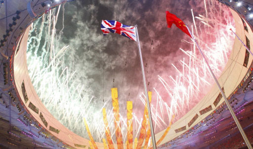 Beijing 2008 Olympics closing ceremony. Image from China Daily