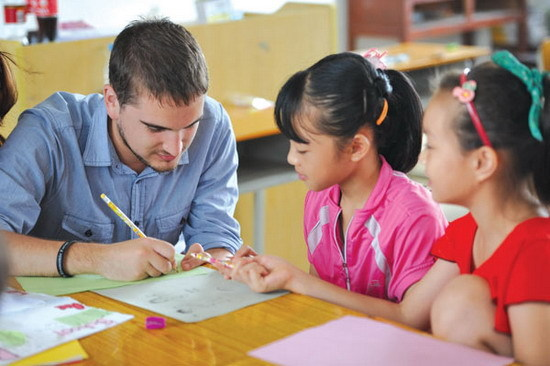 Is it easy to find an English-teaching job in China?[1]- Chinadaily