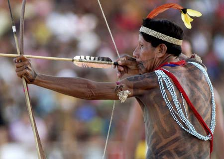 Traditional indian games in brazil