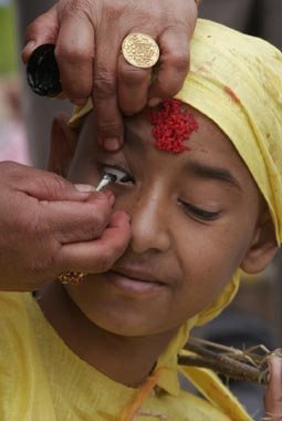 Coming-of-age ceremony in Kathmandu