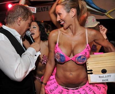 ... at the Hog's Breath Homemade Bikini Contest in Key West, Florida, ...