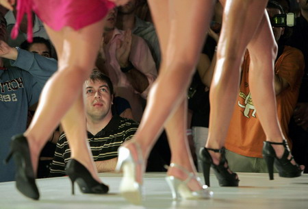 Europe Female high heels shoes show