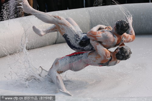 Wrestling in the mud