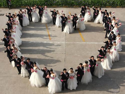 Group Wedding Celebrates May Day Holiday