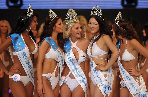 Miss bikini of the world excited