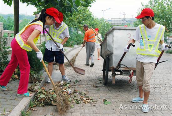 who sanitation students experience sanitation work