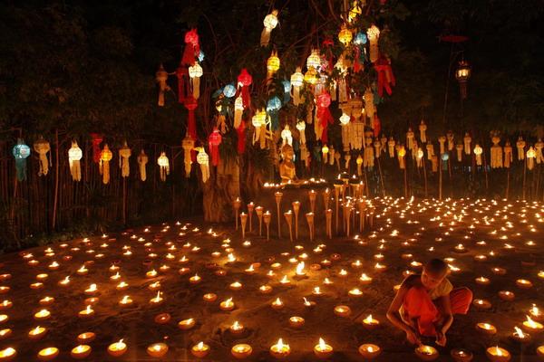 Celebration Of Loy Krathong Festival In Thailand