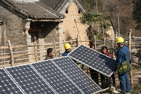 Solar power supply in remote areas