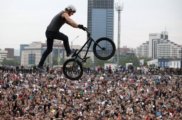 Red Bull Moto And Bmx Freestyle Show In Russia