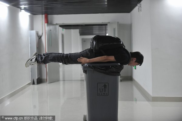 planking craze pics. Planking craze excites NE city
