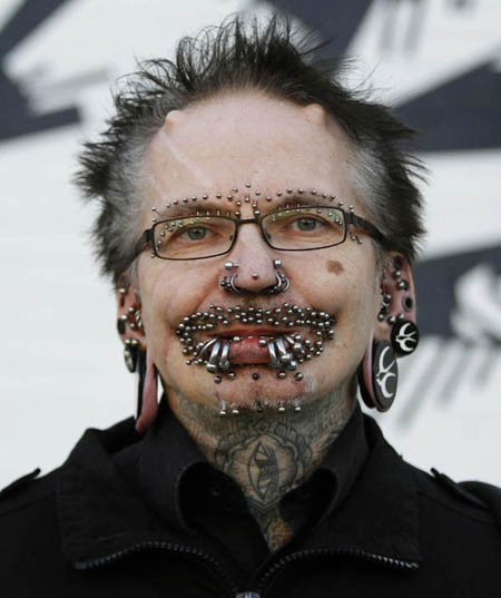 The Most Pierced Man In The World World Chinadaily Com Cn