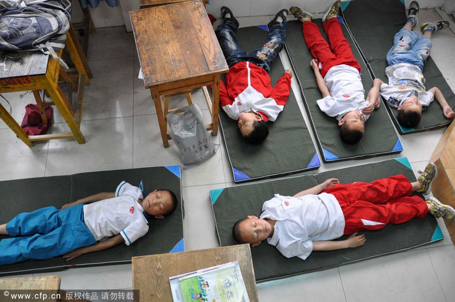 Kids Can Sleep Anywhere 4 Chinadaily Com Cn