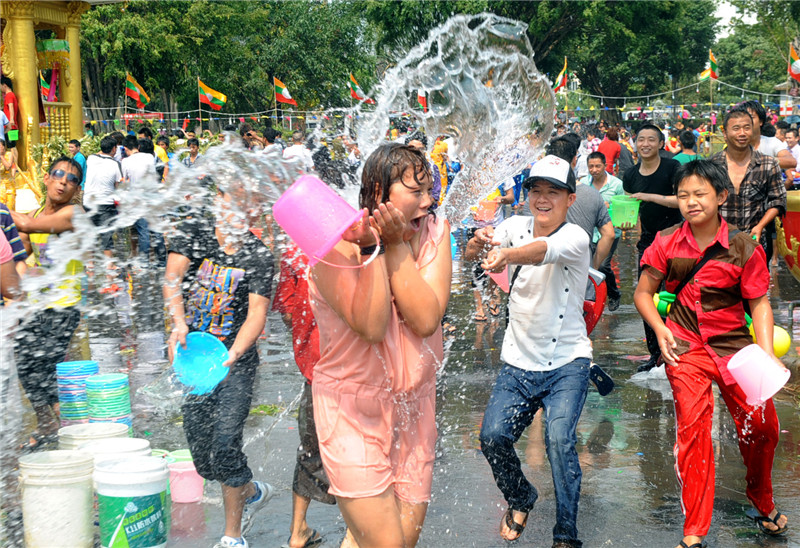 Link to Giant water fight in the name of Buddha