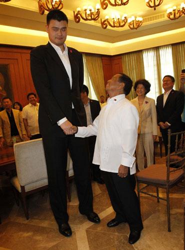 Yao Ming Standing Next...