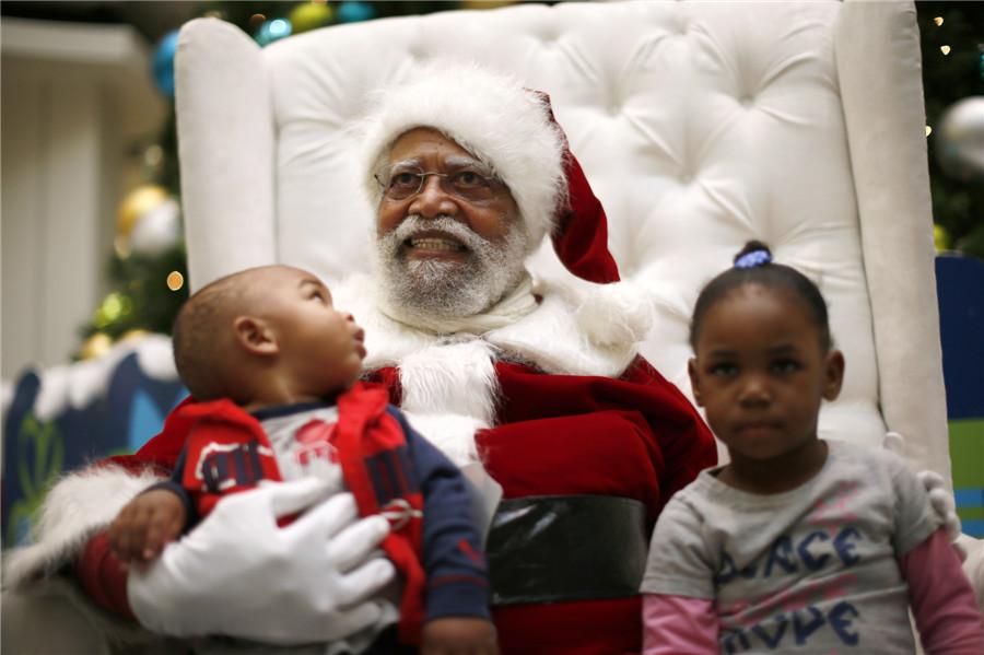 The story of black santa claus chinadaily