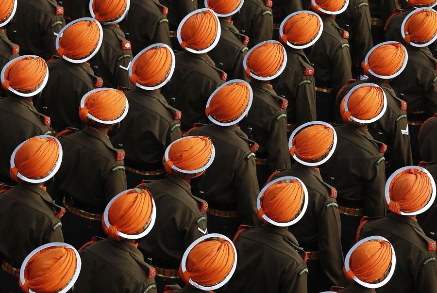 印陸軍錫克輕步兵團方隊