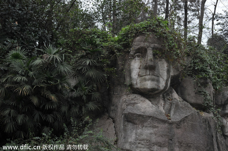 Mount rushmore in china grows green hair chinadaily