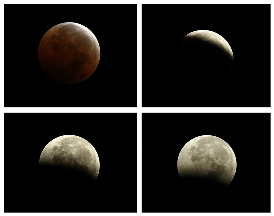 Lunar eclipse in Asia and the Americas