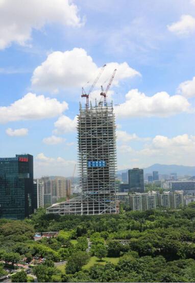 全球最高全钢结构建筑——汉京金融中心突破40层大关