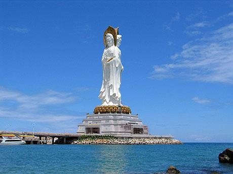 Hainan Sanya Bodhisattva Culture Manmade Island  China  Chinadaily