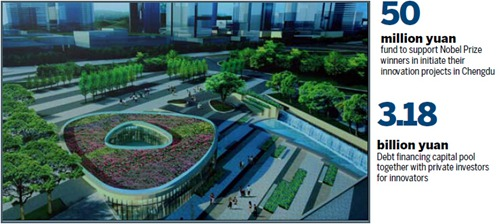 Chengdu Science City, Tianfu New District key parts in