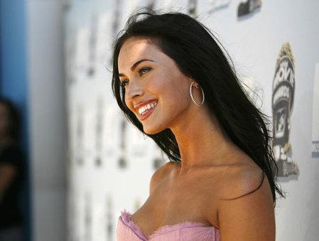 Megan Fox's 'awkward' sex scenes. Actress Megan Fox poses at the 2008 MTV ...