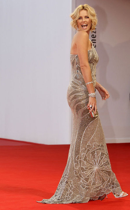 Theron arrives for the... Charlize Theron
