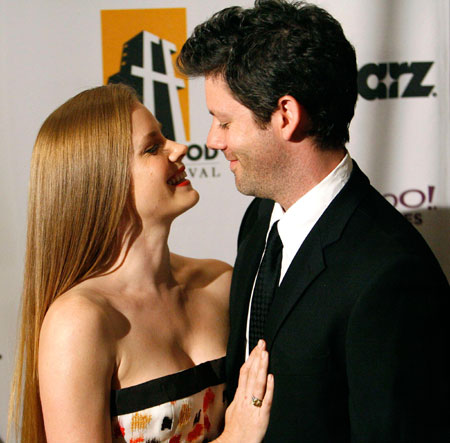 Actress Amy Adams and fiance actor Darren Legallo attend the 12th annual