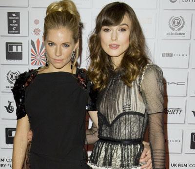 Sienna Miller and Kira...