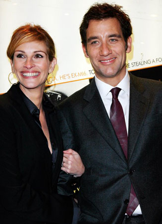"Julia Roberts and Clive Owen:""Duplicity"" in London"