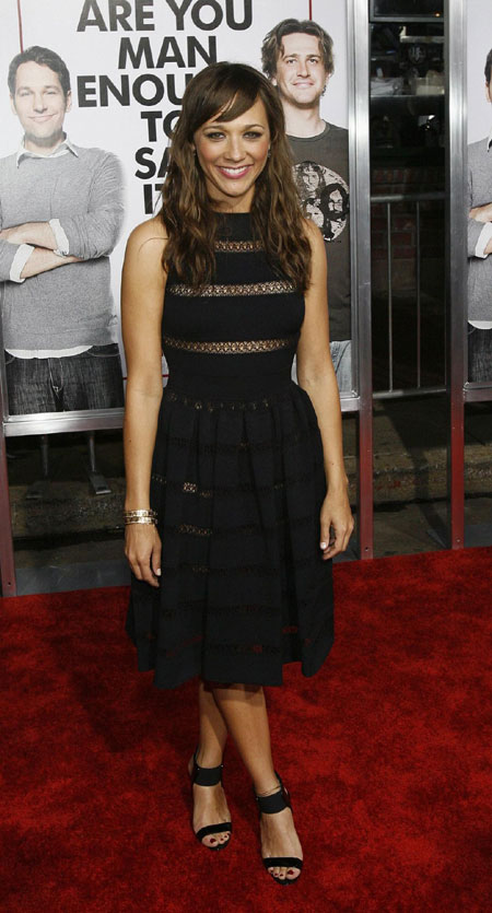 "Cast member Rashida Jones poses at the premiere of the movie ""I Love You,"
