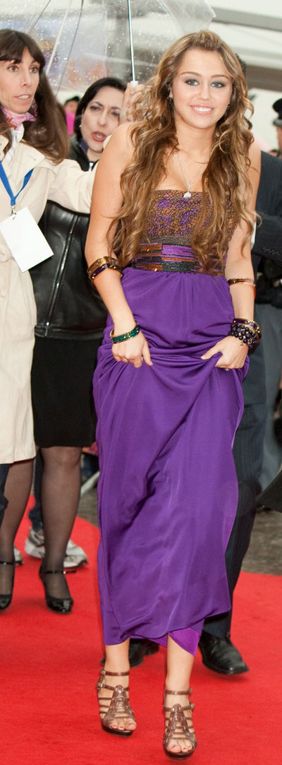 Miley Cyrus attends 'Hannah Montana:The Movie' premiere in Rome