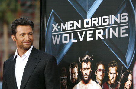 Jackman and Berry pose at an industry screening of X-Men Origins: Wolverine in Hollywood