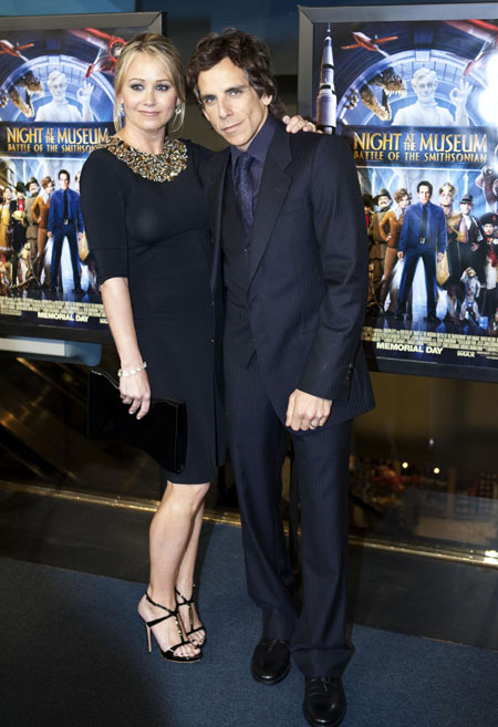 Stiller and Taylor at premiere of