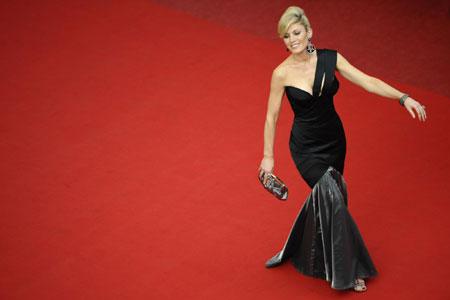 Model Hofit Golan arrives on the red carpet for the screening of film