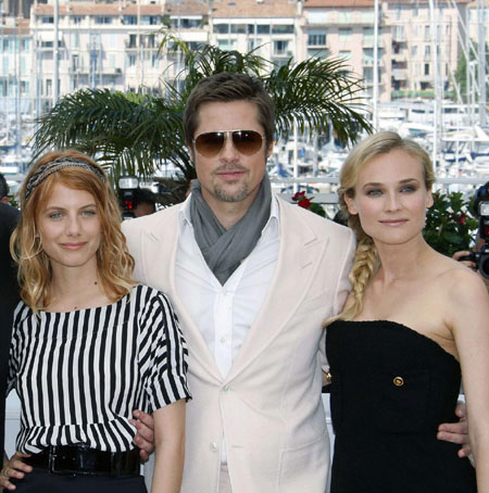 Quentin Tarantino, Brad Pitt and cast members at 62nd Cannes Film Festival