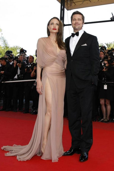 Brad Pitt and Angelina Jolie arrive for screening of