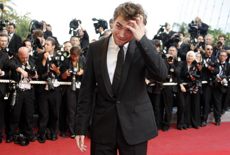 Robert Pattinson arrives on the red carpet for the screening of film at