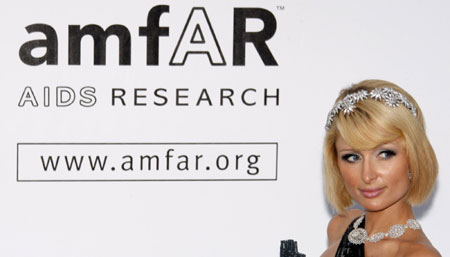 Hilton arrives for amfAR's Cinema Against AIDS 2009 event in Antibes