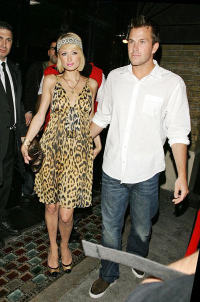 Paris Hilton and boyfriend out in London