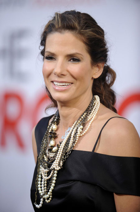 Cast member Sandra Bullock attends the premiere of the film
